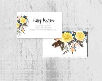 Essential Oil Business Card, Floral Oil Business, Printable Essential Oil Business Card