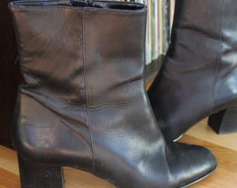 Black Platform Italian Ankle Bootie