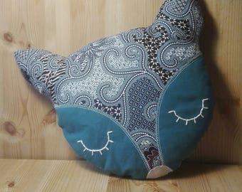 Blue Fox pillow