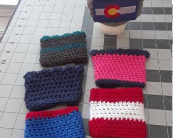 Crochet Coffee Cup Cozy Sleeve