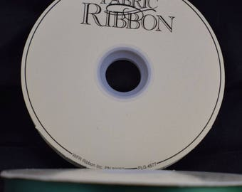 Thrifty Satin Emerald Green Fabric Ribbon 100 Yard Roll 3/8 Wide Pattern 6550 Vintage WFR Brand