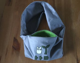 Made To Order Sugar Glider Bonding Scarf Single Loop - Sugar Glider Bonding Pouch - Rat Bonding Pouch - Bonding Pouch - Grey Chibi Totoro