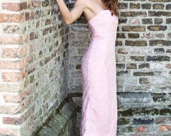 Pink Dress handmade with lace and a little spark