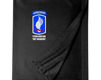 """173rd Airborne Brigade """"Sky Soldiers""""  Embroidered Blanket-3927"""