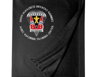 509th Parachute Infantry JRTC Embroidered Blanket-6915