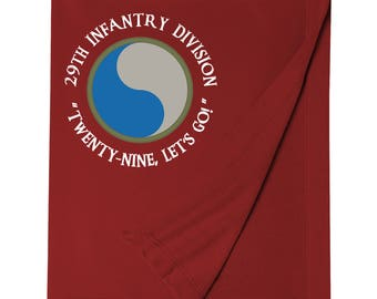 29th Infantry Division Embroidered Blanket-7565