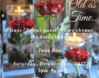 Beauty and the Beast Theme Invitations