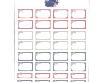 Plaid bow quarte and half boxes / Printable/ Erin Condren