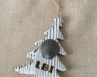 LBI Christmas Tree and Shell Ornament