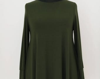 Bell Shirt Olive by Mollomo * Plus Size *