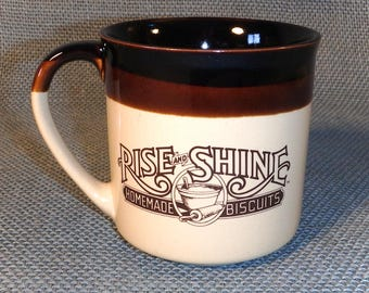 Hardee's Coffee Mug - Rise and Shine Homemade Biscuits - Vintage 1984