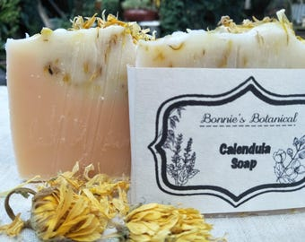 Calendula Soap / Organic soap / Cold process soap / Handmade soap