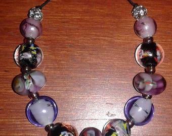 Multi-color adjustable bracelet