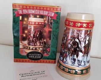 1994 Budweiser Holiday Stein
