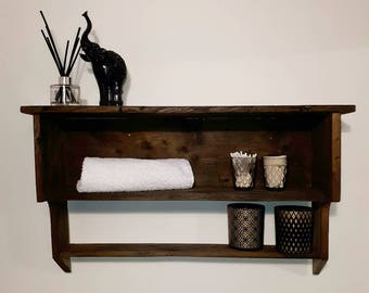 Reclaimed wood, farmhouse shelving unit