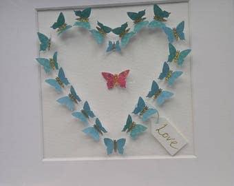 Butterfly 3d Heart
