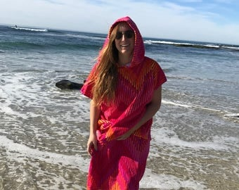 Pink Ikat Chevron Toncho