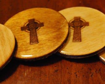 Celtic Cross Coasters - Set of Four