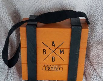 Cigar Box Purse ABBM Esteli (orange)
