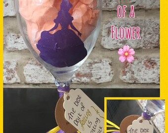 Belle- Beauty And The Beast. Decorative Wine Glass
