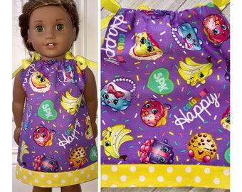 "18"" Doll Clothes/Doll Pillowcase Dress/American Girl Dress/Shopkins"
