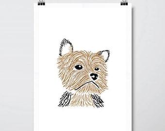 Terrier Dog Print