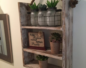 Rustic Bathroom Shelf Decor, Antique Style Bathroom Wall Decor, Bathroom Accessories, Home Decor, Wall Shelf, Wall Hanging Shelf