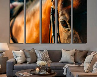 Horse Wall Art Horse Canvas Print Horse Large Wall Decor Horse Canvas Art Horse Painting Horse Poster Print Horse Home Decor Gift for She