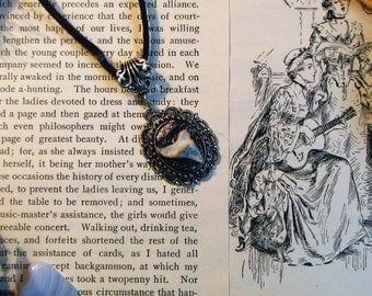 Real Animal Bone Necklace on Genuine Leather - Animal Bone Jewelry