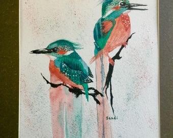 Two kingfishers
