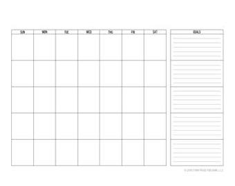 30-Day Calendar Plus Goals
