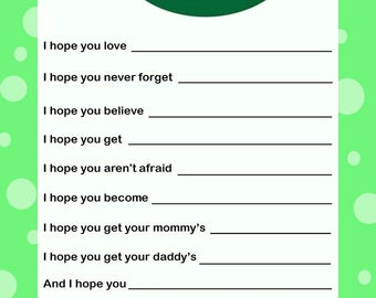 Wishes for Baby Card - Twins - Green