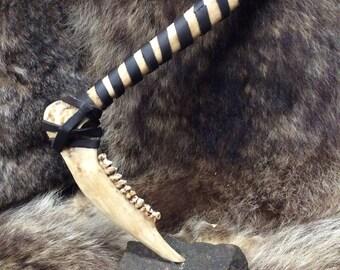 Tribal bone tomahawk