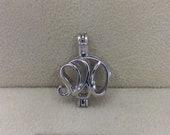 925 Sterling Elephant Style cage Pendant