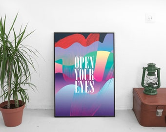 """Poster A3 """"Open Your Eyes"""""""