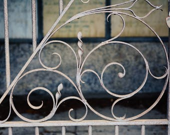 Cemetery Gate Photograph, art photography, cemetery art, fine art photography