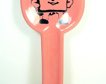 spoon rest with a Hero Sandwich on Bubblegum Pink READY TO SHIP