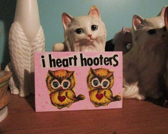 I Heart Hooters {Original Collage}