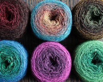 Pure wool knitting yarn - 6 x 31 g