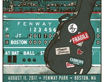 James Taylor Bonnie Raitt 2017 Fenway Park Boston Stadium Tour Red Sox Gigposter Poster by GIGART