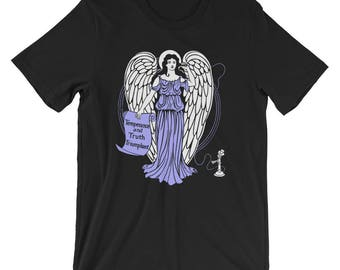 Unisex | Technological Angel T-Shirt | Temperance and Truth Triumphant | Antique Telephone