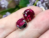 10mm Lab-Created Ruby, Fa...
