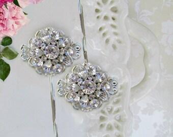 Wedding Hair Pins, Bridal Hair clips, Crystal bobby pins, Bridal hair combs, Crystal Hair Pins, Bridal accessories, Wedding Hair Accessory