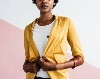 Mustard Tri-Pocket Cardigan