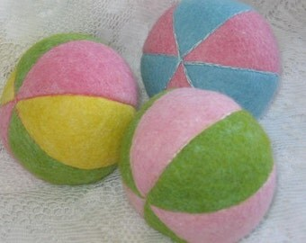 Wool Felt Ball, Waldorf Toys, Felt Balls,Gifts for Children,Travel Toys,Natural Fiber Toys,Montessori Toys
