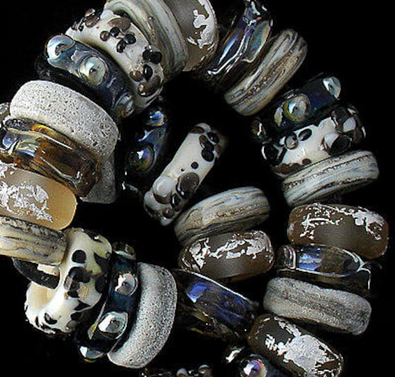 DSG Beads~Artisan Debbie Sanders Handmade Organic Lampwork Glass Beads ~Rhino Safari~ Made To Order