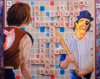 Warriors! Come out and play-ay! Custom Scrabble Board Multimedia Art