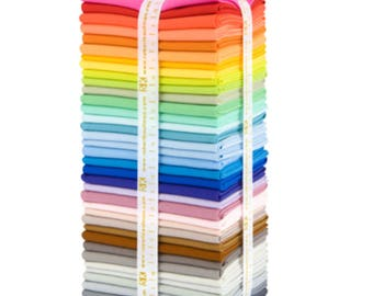 New Kona colors precut bundle, Quilt, Gifts for Wife, Fabric bundle 37 fat quarters in the NEW 2017 KONA solid colors