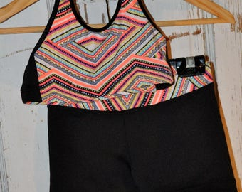 Halter Neck Crop Top and Matching Shorts