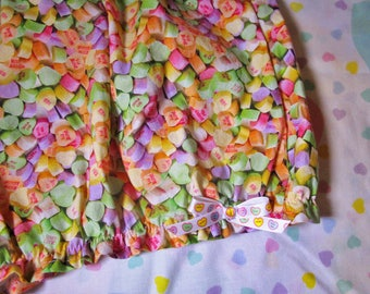 Lolita bloomers, Valentine's day Conversation Hearts rave shorts clothing pastel goth size L large